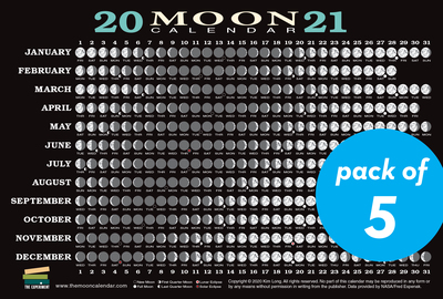 2021 Moon Calendar Card (5 pack) - cover