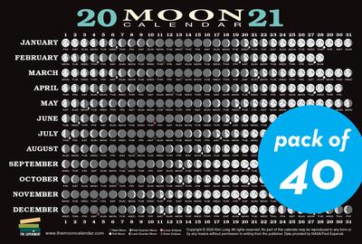 2021 Moon Calendar Card (40 pack) - cover
