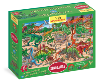 My Big Wimmelpuzzle—Dinosaurs Floor Puzzle, 48-Piece - cover