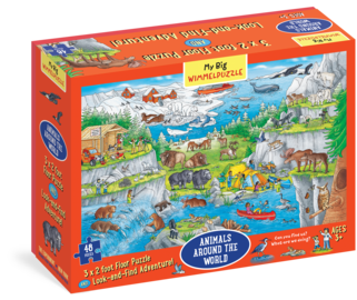 My Big Wimmelpuzzle—Animals Around the World Floor Puzzle, 48-Piece - cover