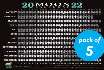 2022 Moon Calendar Card (5 pack) - cover