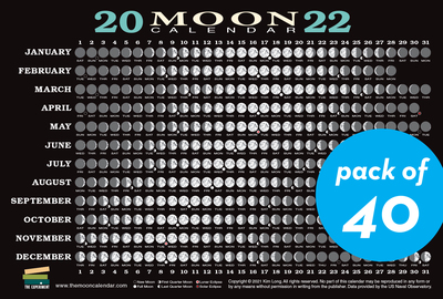2022 Moon Calendar Card (40 pack) - cover