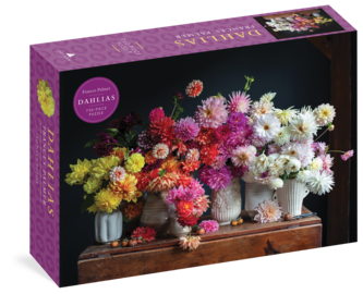 Dahlias 750-Piece Puzzle - cover