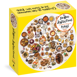 The 100 Most Jewish Foods: 500-Piece Circular Puzzle - cover