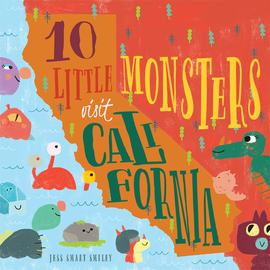 10 Little Monsters Visit California - cover