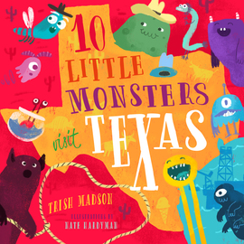 10 Little Monsters Visit Texas - cover