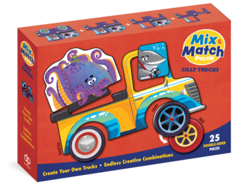 Mix & Match Puzzle: Silly Trucks - cover