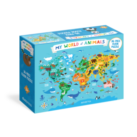 My World of Animals 36-Piece Floor Puzzle - cover