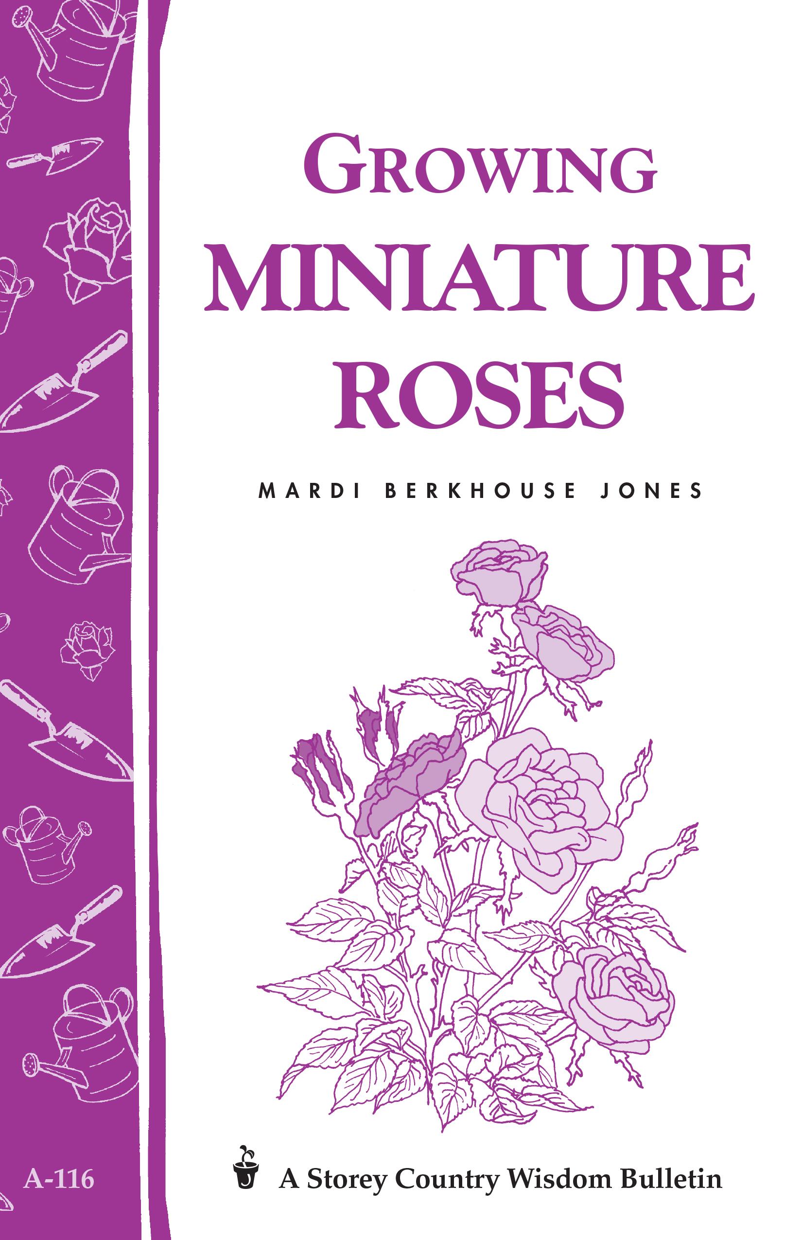 Growing Miniature Roses Storey's Country Wisdom Bulletin A-116 - Mardi Berkhouse Jones