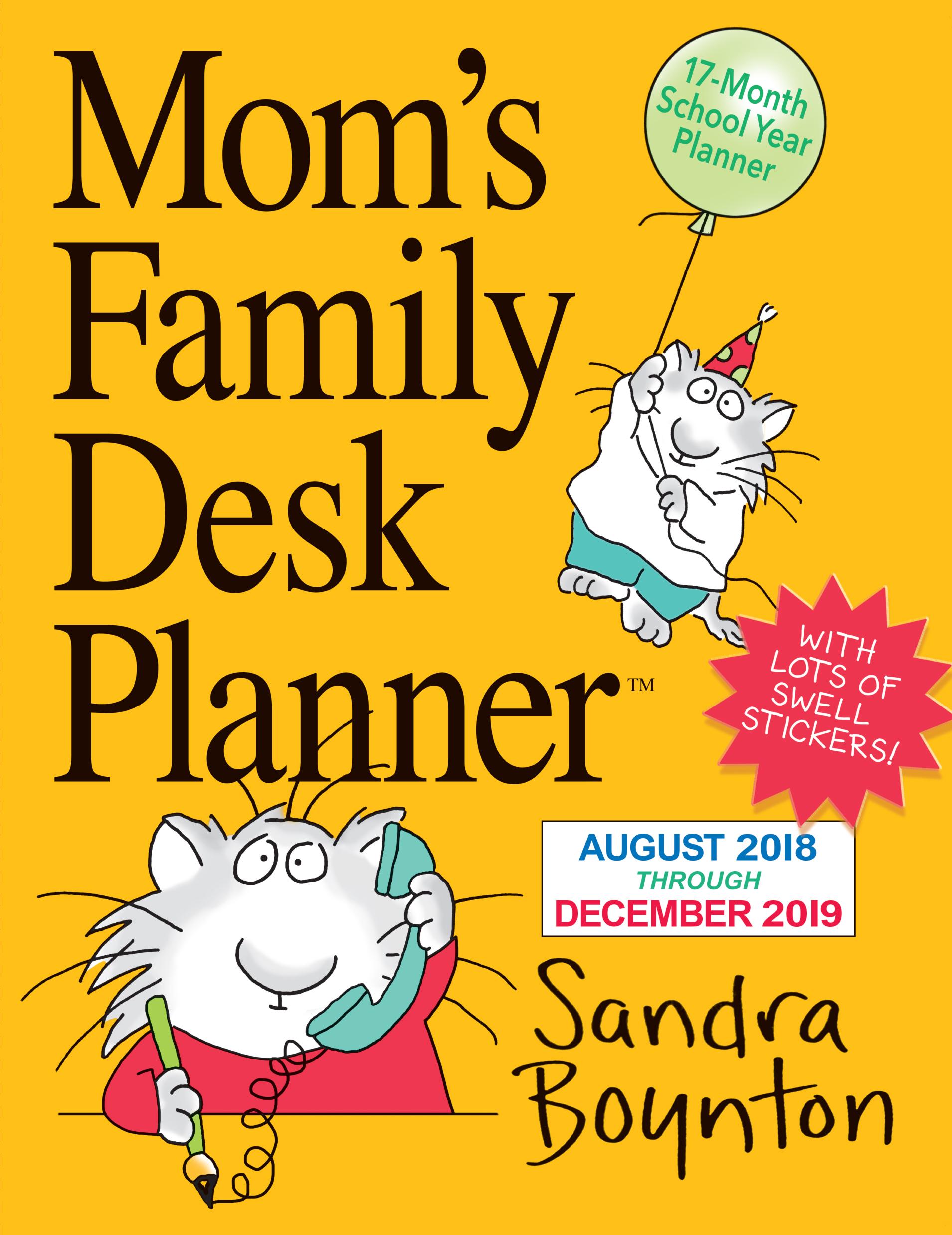 mom s family desk planner calendar 2019 workman publishing
