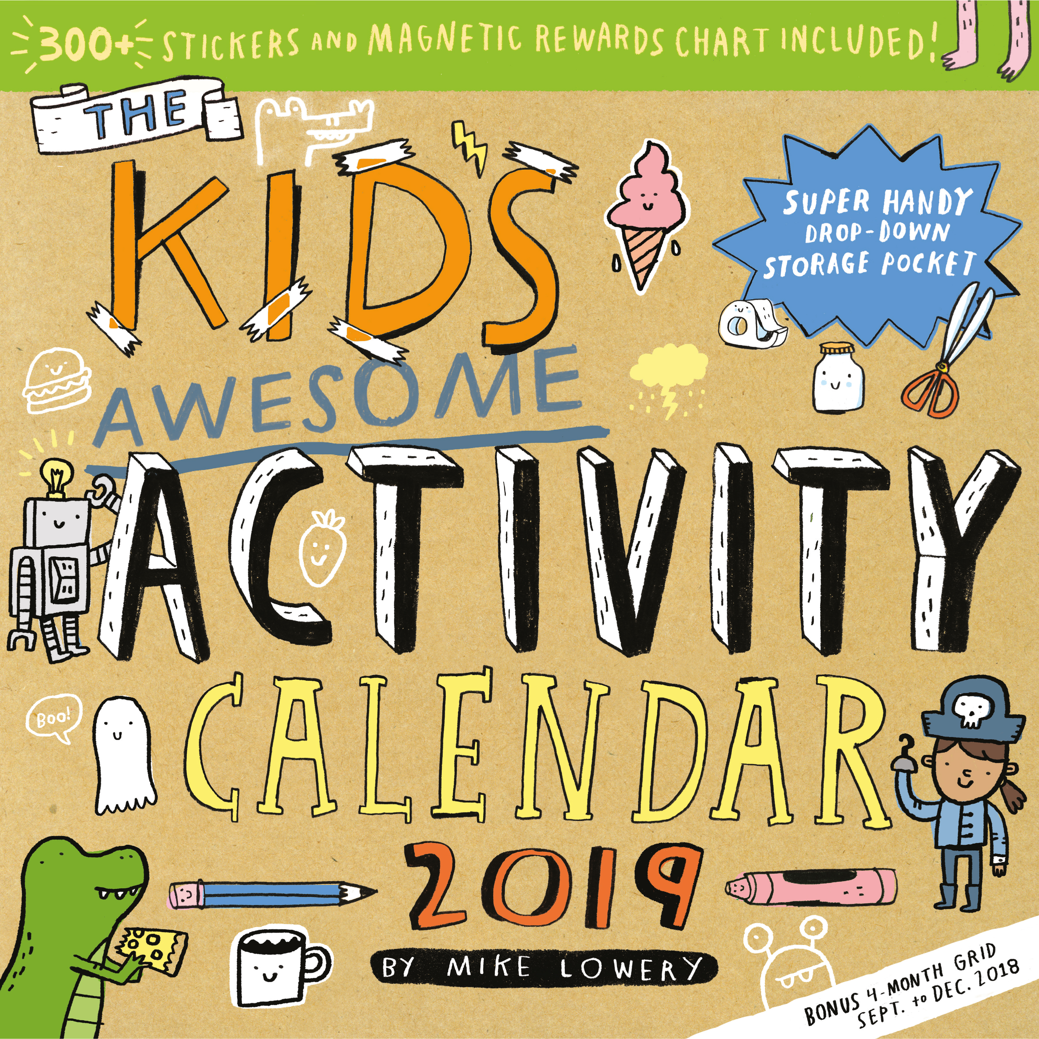 Kids Calendar With Activity Stickers : Kid s awesome activity wall calendar workman publishing