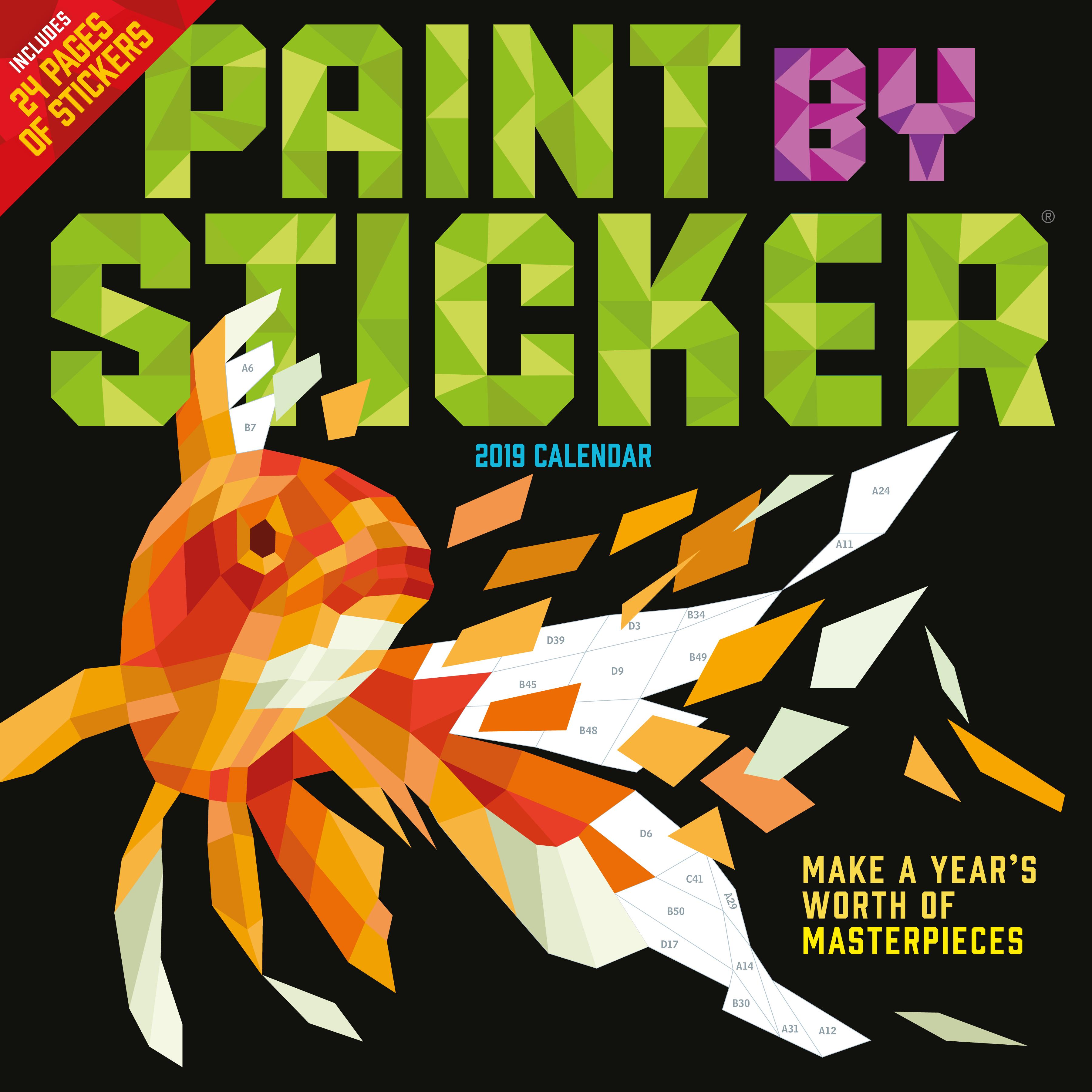 Kids Calendar With Activity Stickers : Paint by sticker wall calendar
