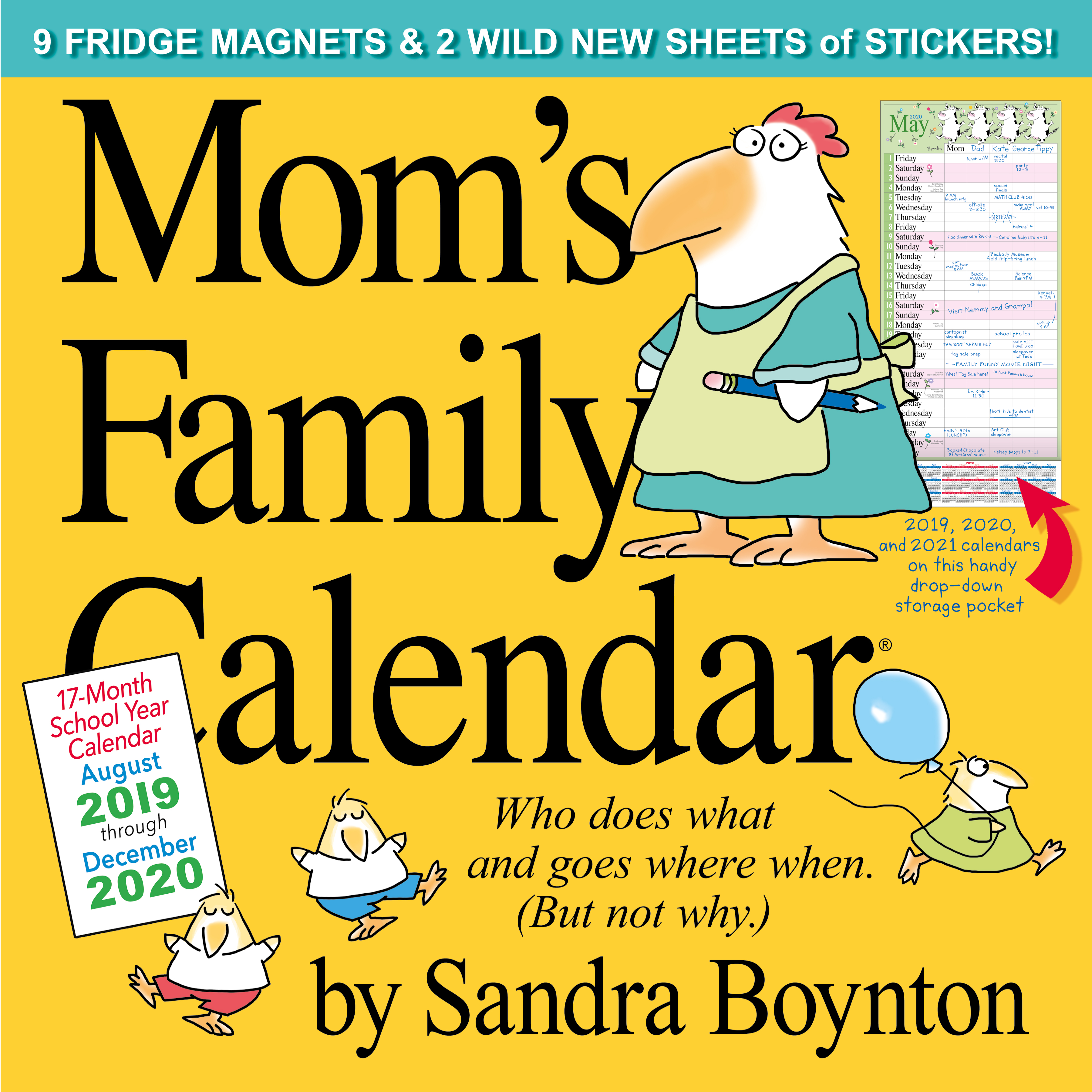 Lunar Days Calendar December 2020 Chicago Mom's Family Wall Calendar 2020   Workman Publishing