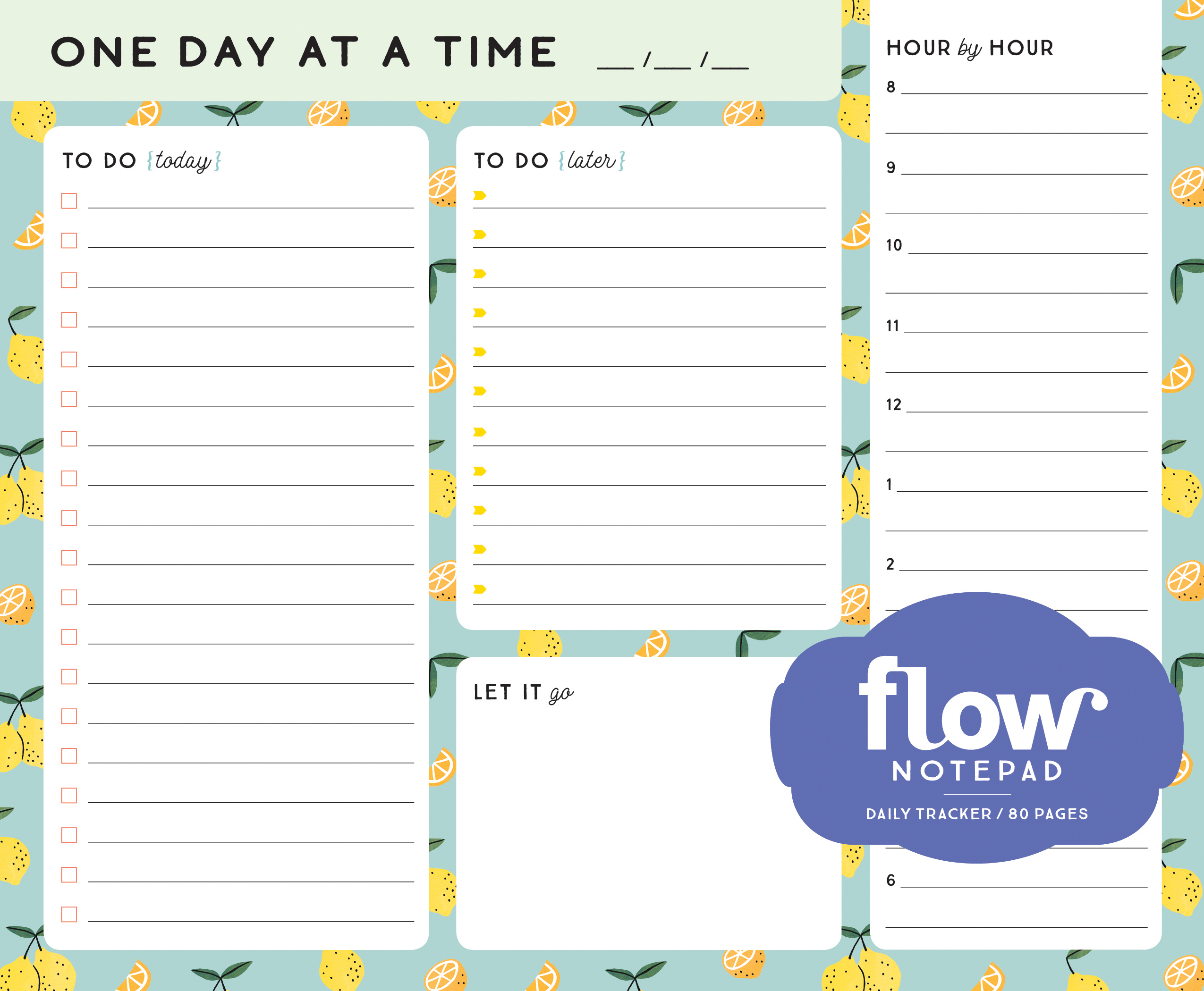 One Day At A Time Daily List Pad Workman Publishing