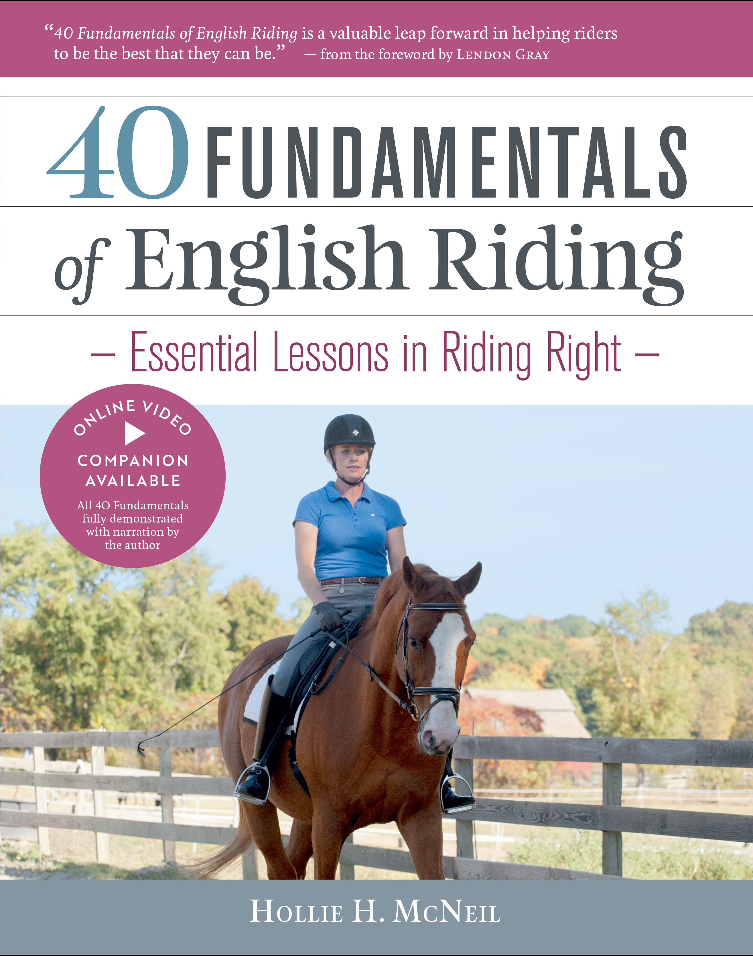 40 Fundamentals of English Riding Essential Lessons in Riding Right (Book and DVD) - Hollie H. McNeil