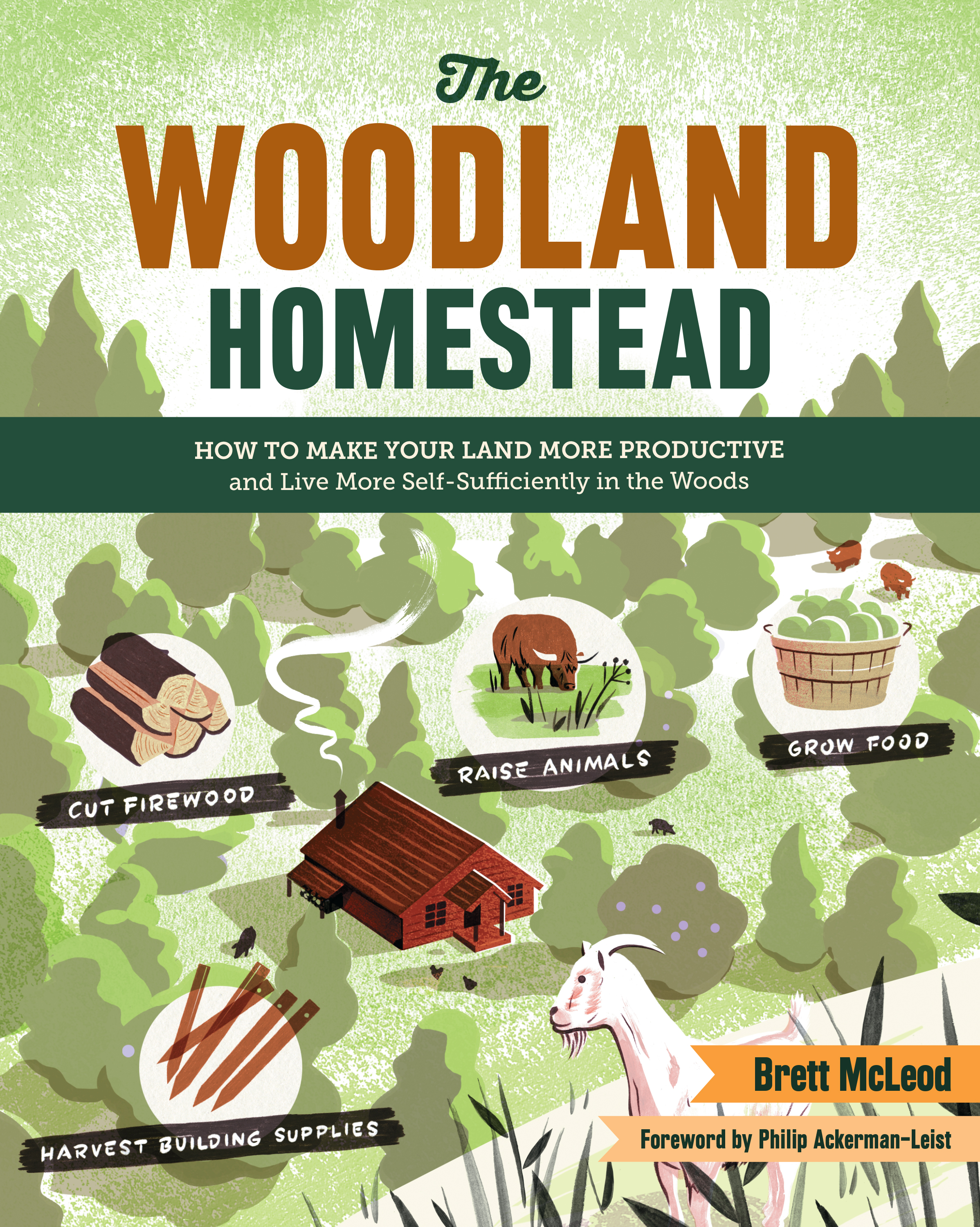 The Woodland Homestead How to Make Your Land More Productive and Live More Self-Sufficiently in the Woods - Brett McLeod