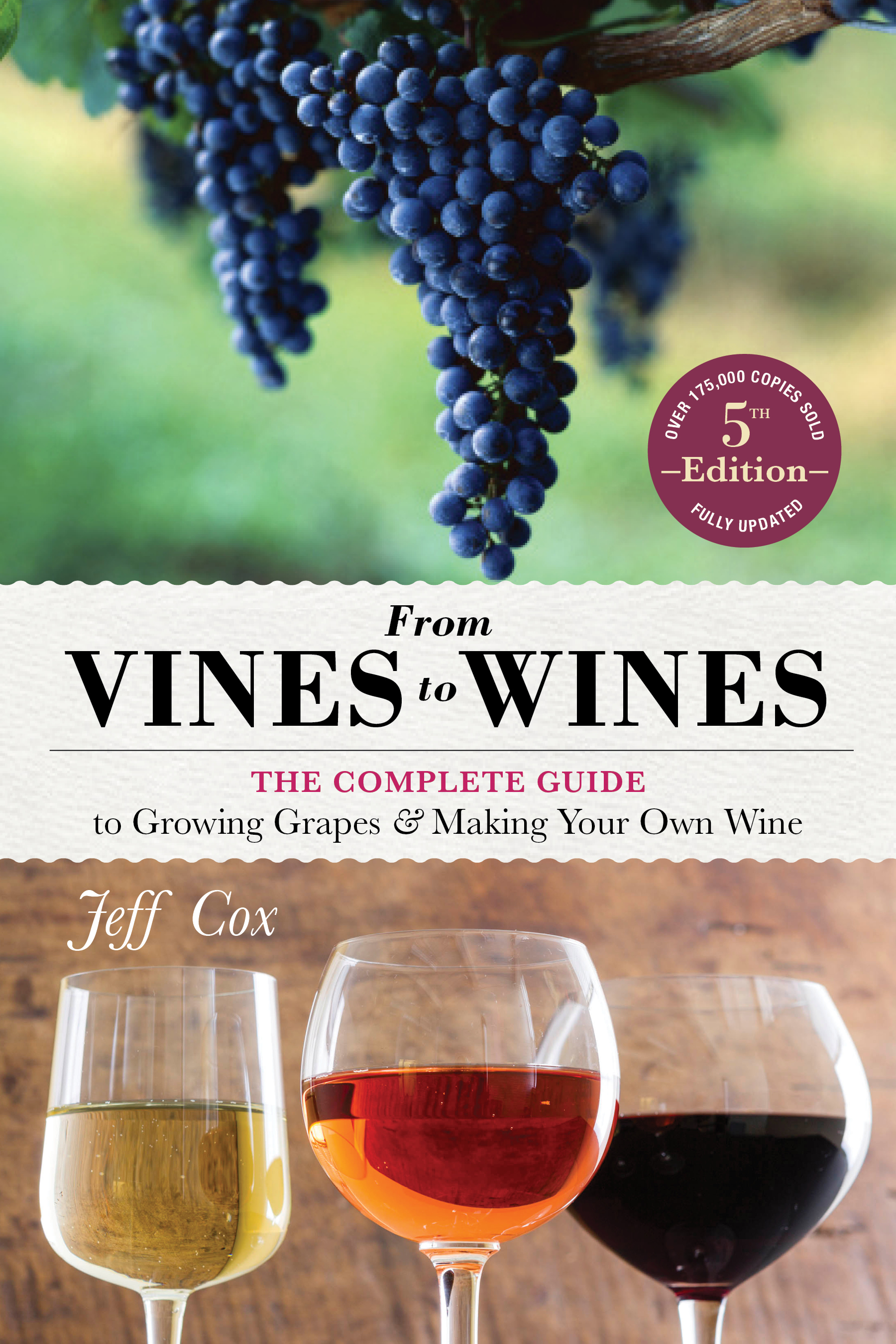 From Vines to Wines, 5th Edition The Complete Guide to Growing Grapes and Making Your Own Wine - Jeff Cox