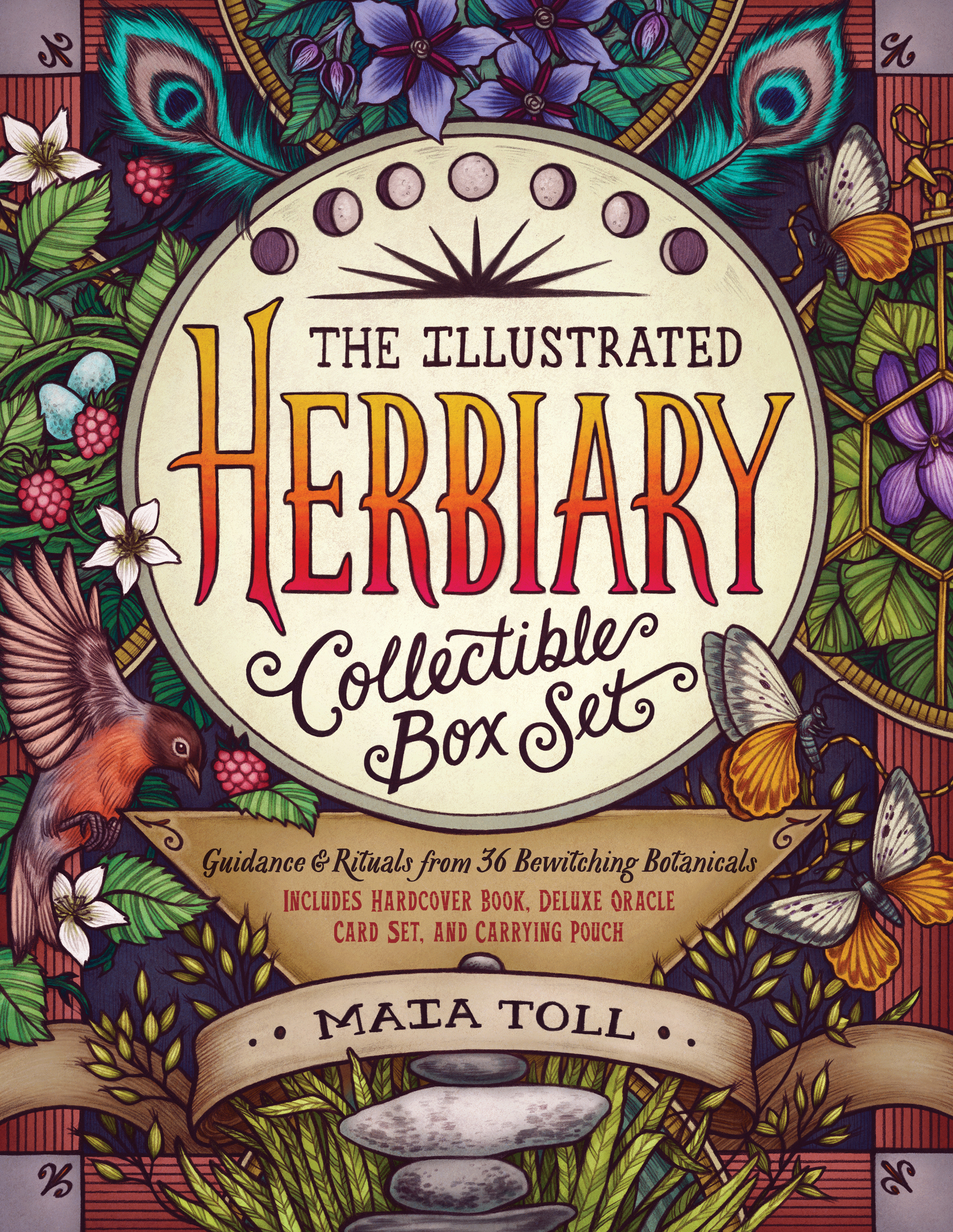 The Illustrated Herbiary Collectible Box Set Guidance and Rituals from 36 Bewitching Botanicals; Includes Hardcover Book, Deluxe Oracle Card Set, and Carrying Pouch - Maia Toll
