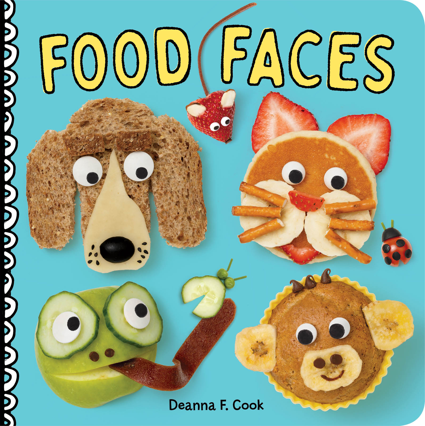 Food Faces A Board Book - Deanna F. Cook