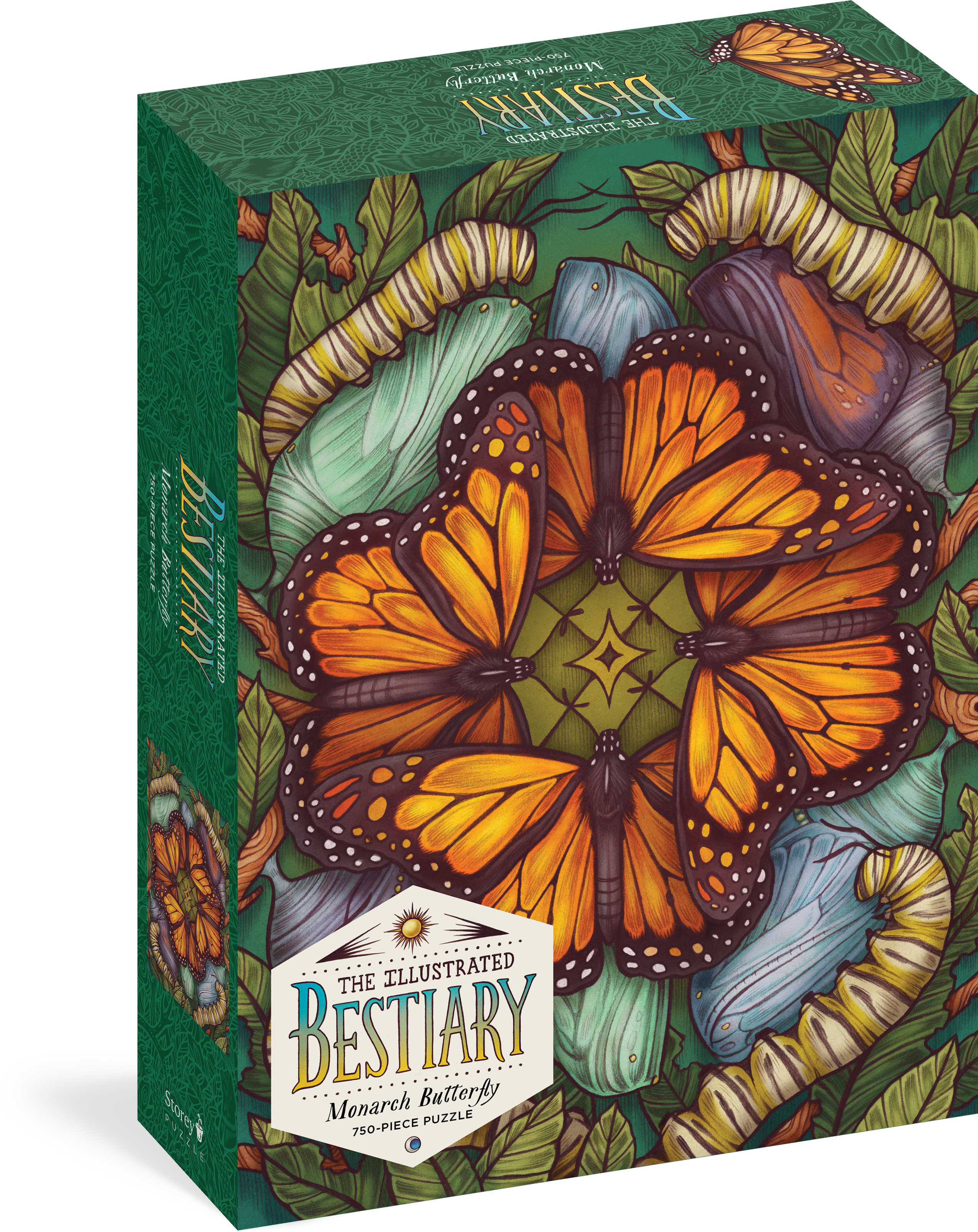The Illustrated Bestiary Puzzle: Monarch Butterfly (750 pieces)  - Maia Toll