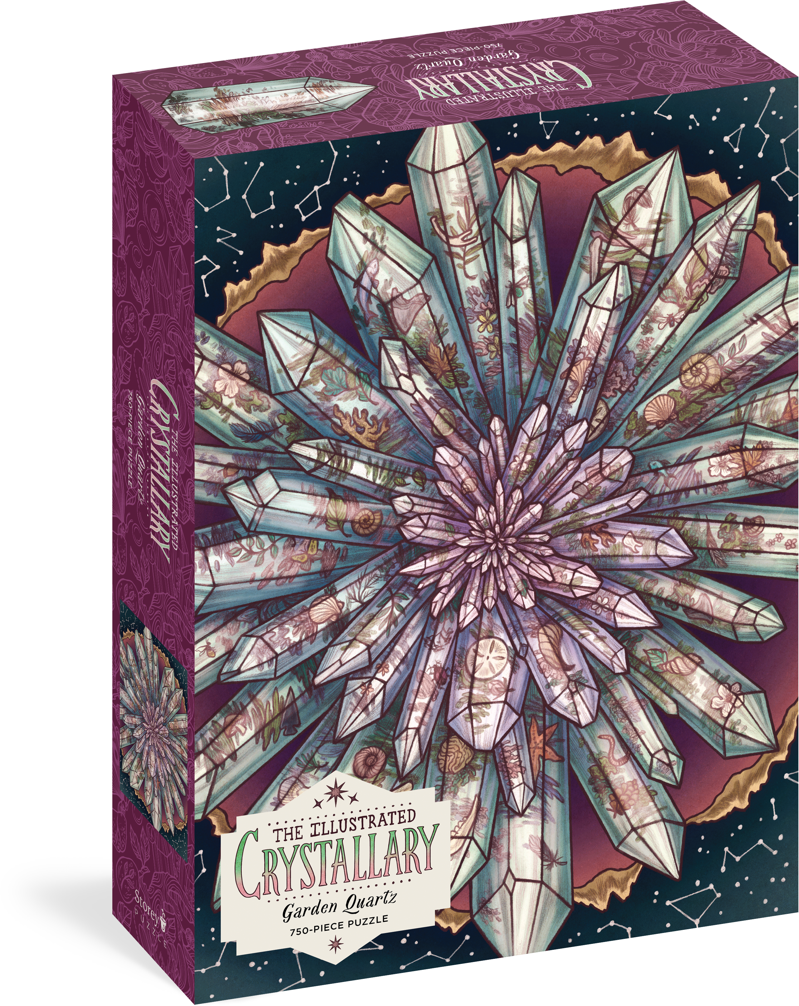 The Illustrated Crystallary Puzzle: Garden Quartz (750 pieces)  - Maia Toll