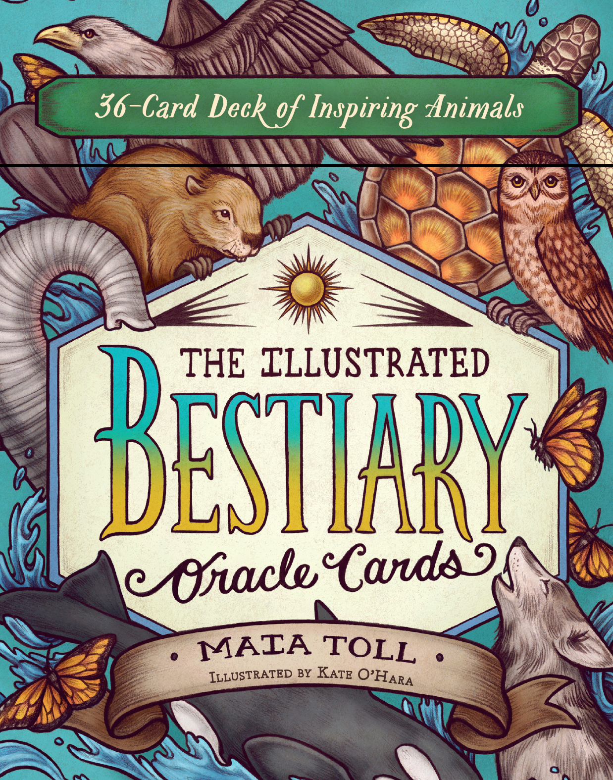 The Illustrated Bestiary Oracle Cards 36-Card Deck of Inspiring Animals - Maia Toll