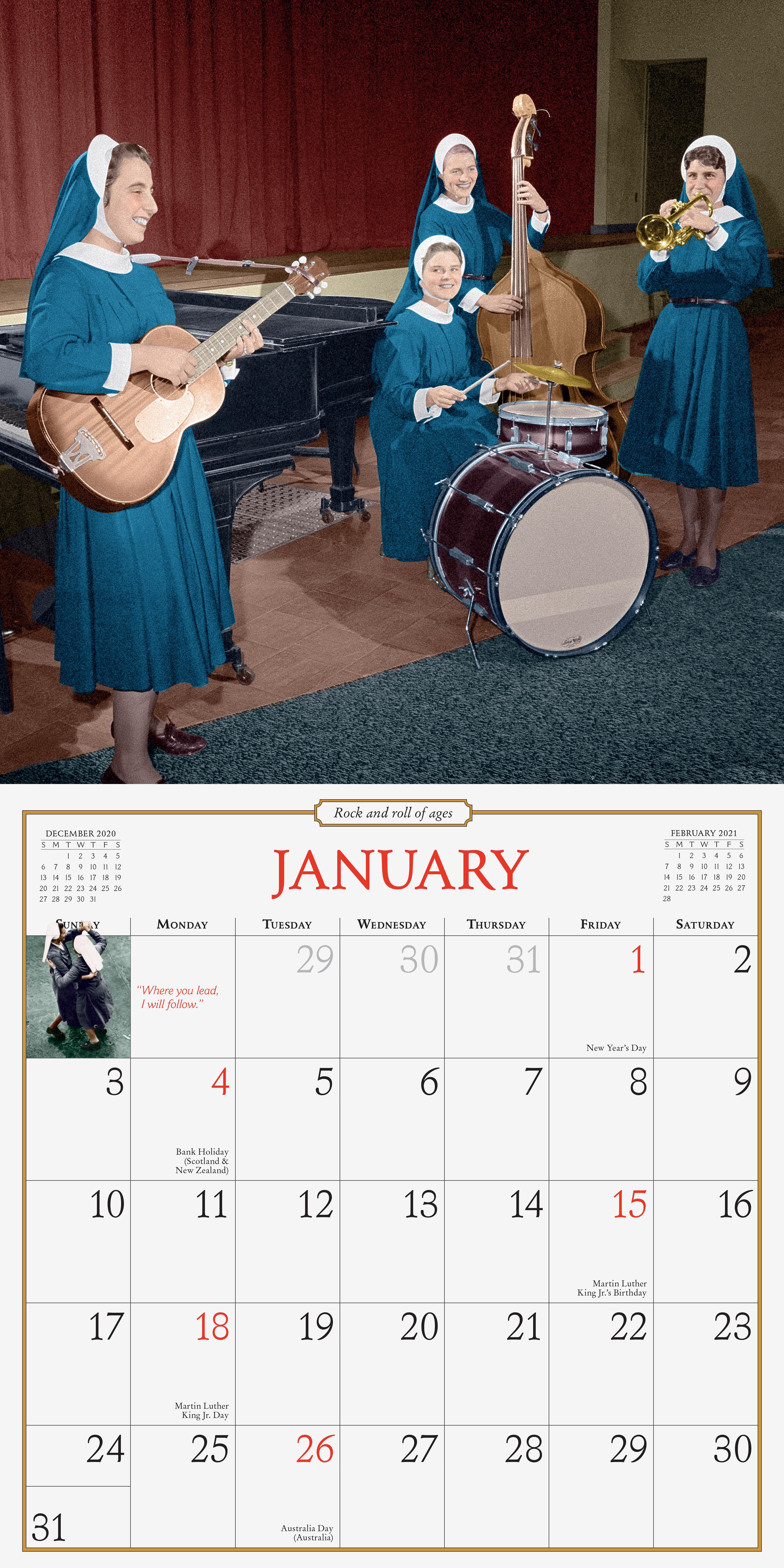 Nuns Having Fun Calendar 2021 Nuns Having Fun Wall Calendar 2021   Workman Publishing