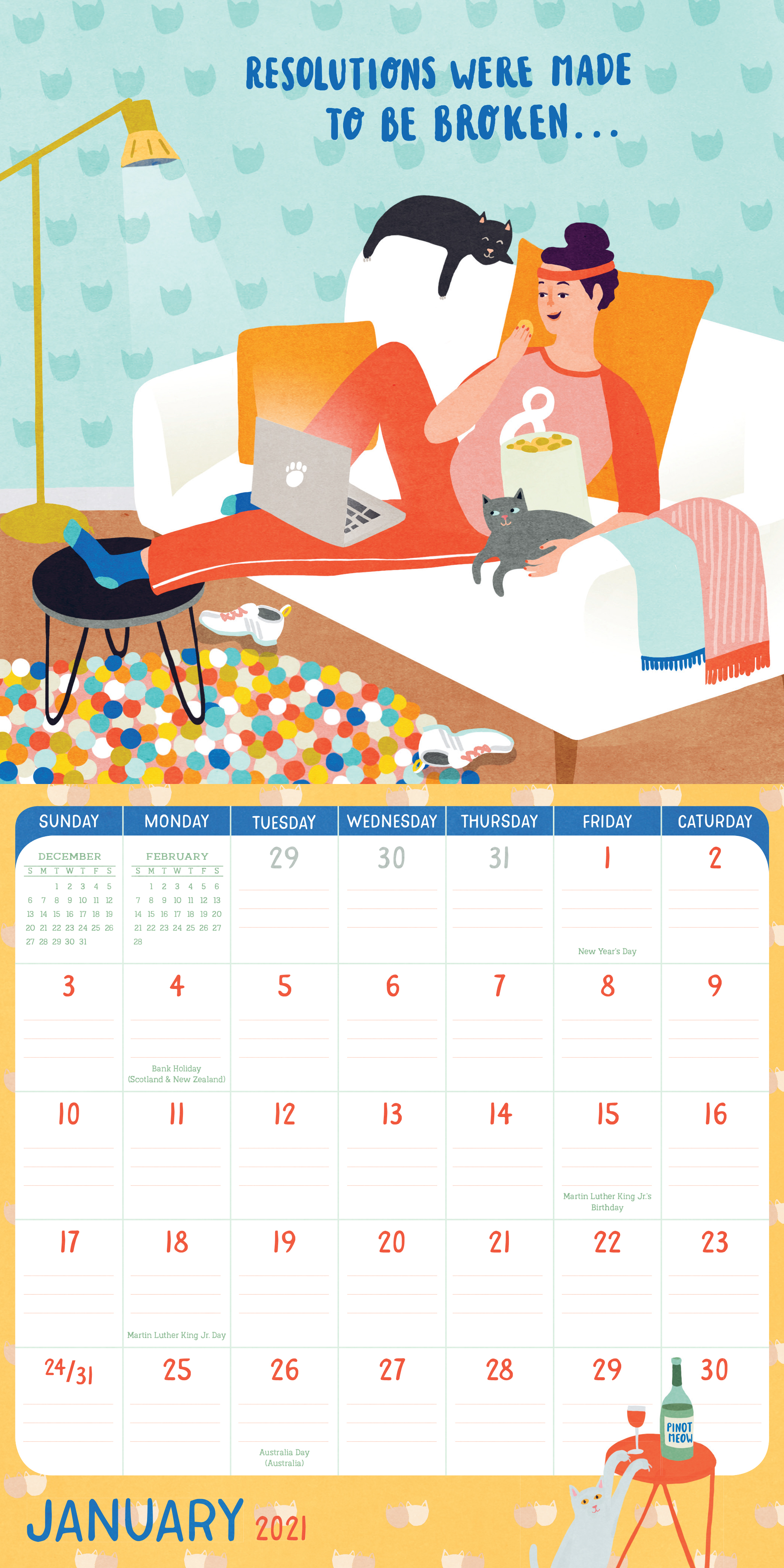 Crazy Calendar 2021 Wallpaper