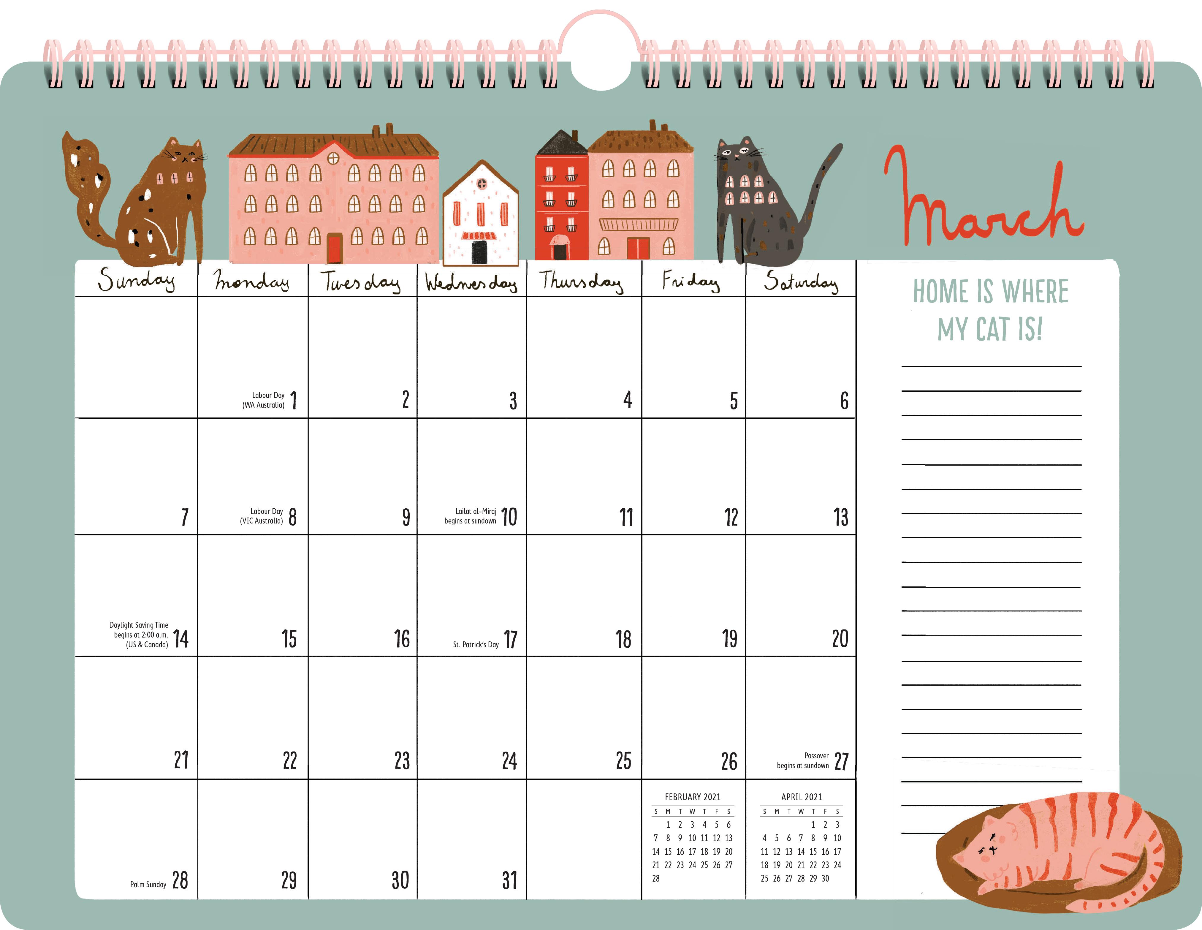 Cat Mom 17-Month Wall Calendar 2021 - Workman Publishing