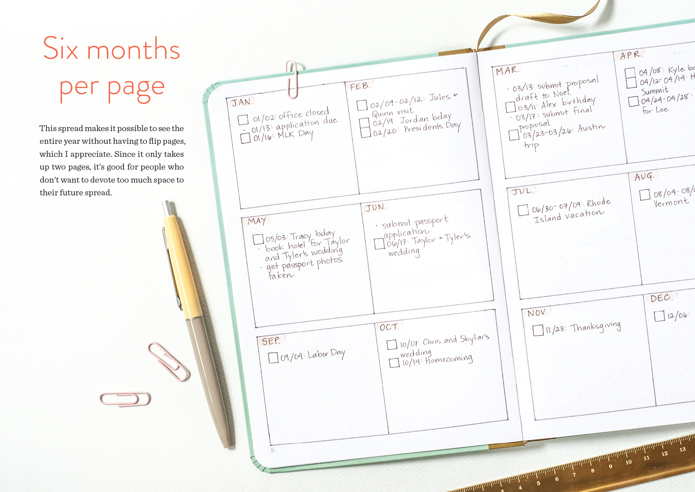 Dot Calendar Bullet Journal : Dot journaling—a practical guide workman publishing