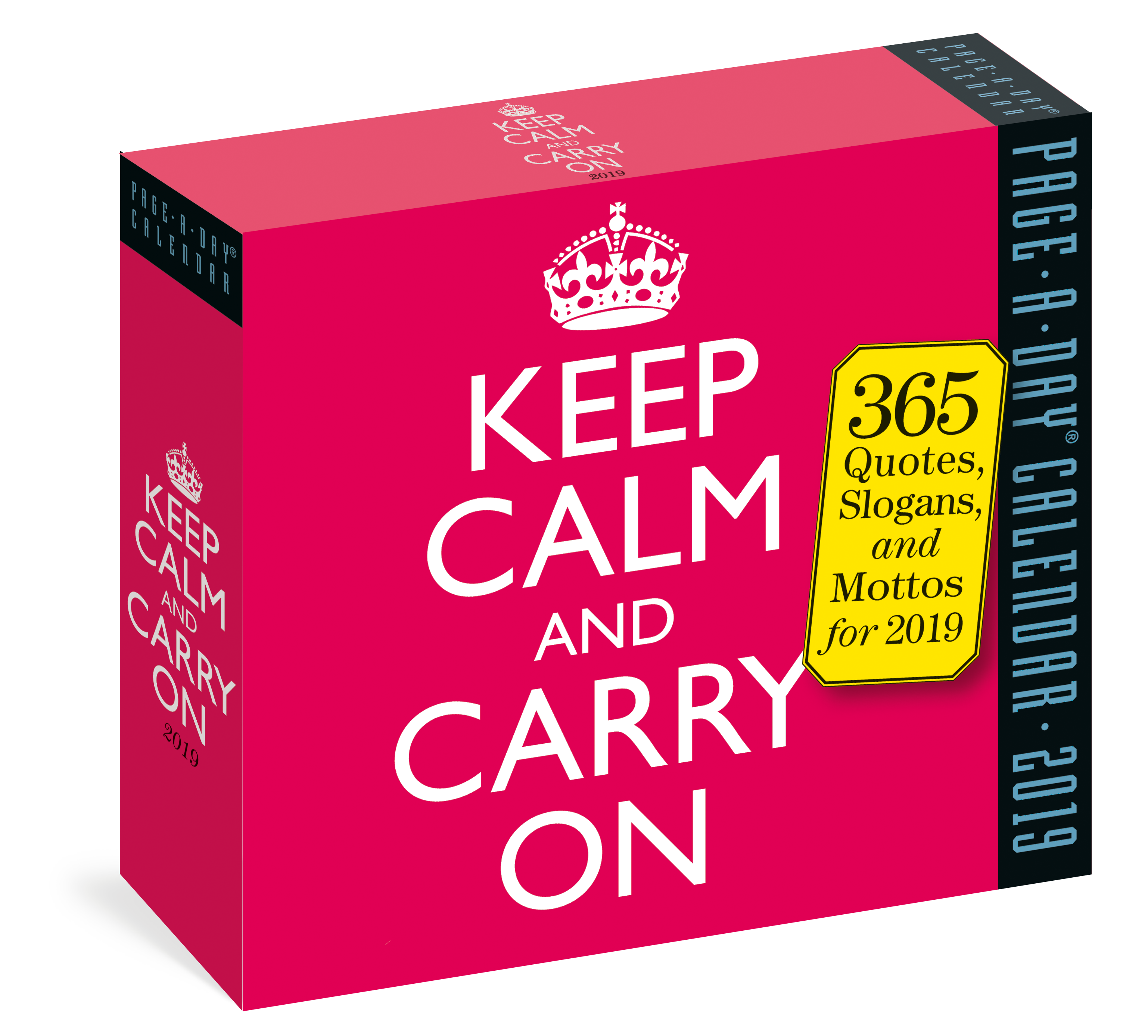 Keep Calm and Carry On PageADay Calendar 2019 Workman Publishing