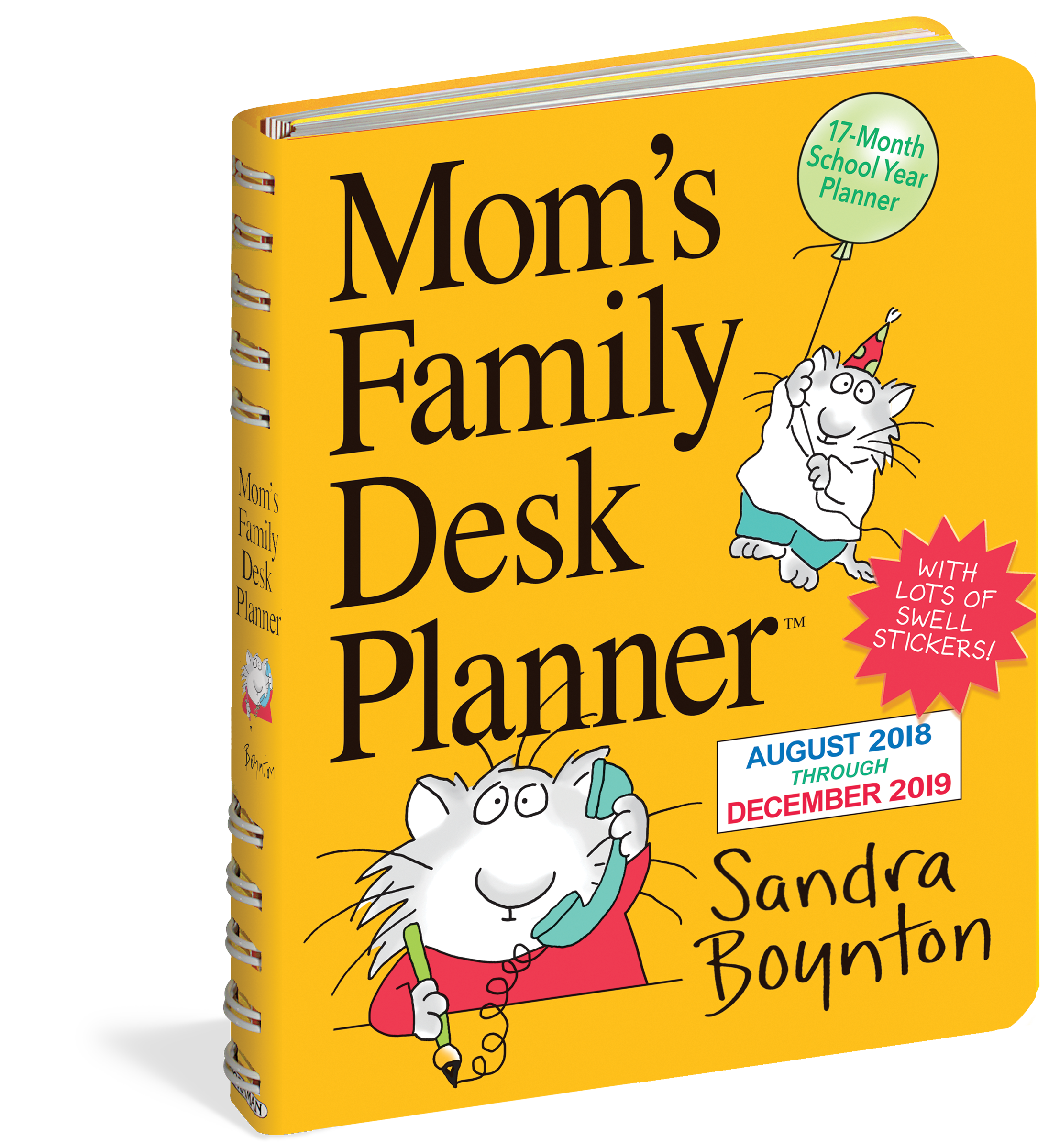 Mom S Family Desk Planner Calendar 2019 Workman Publishing