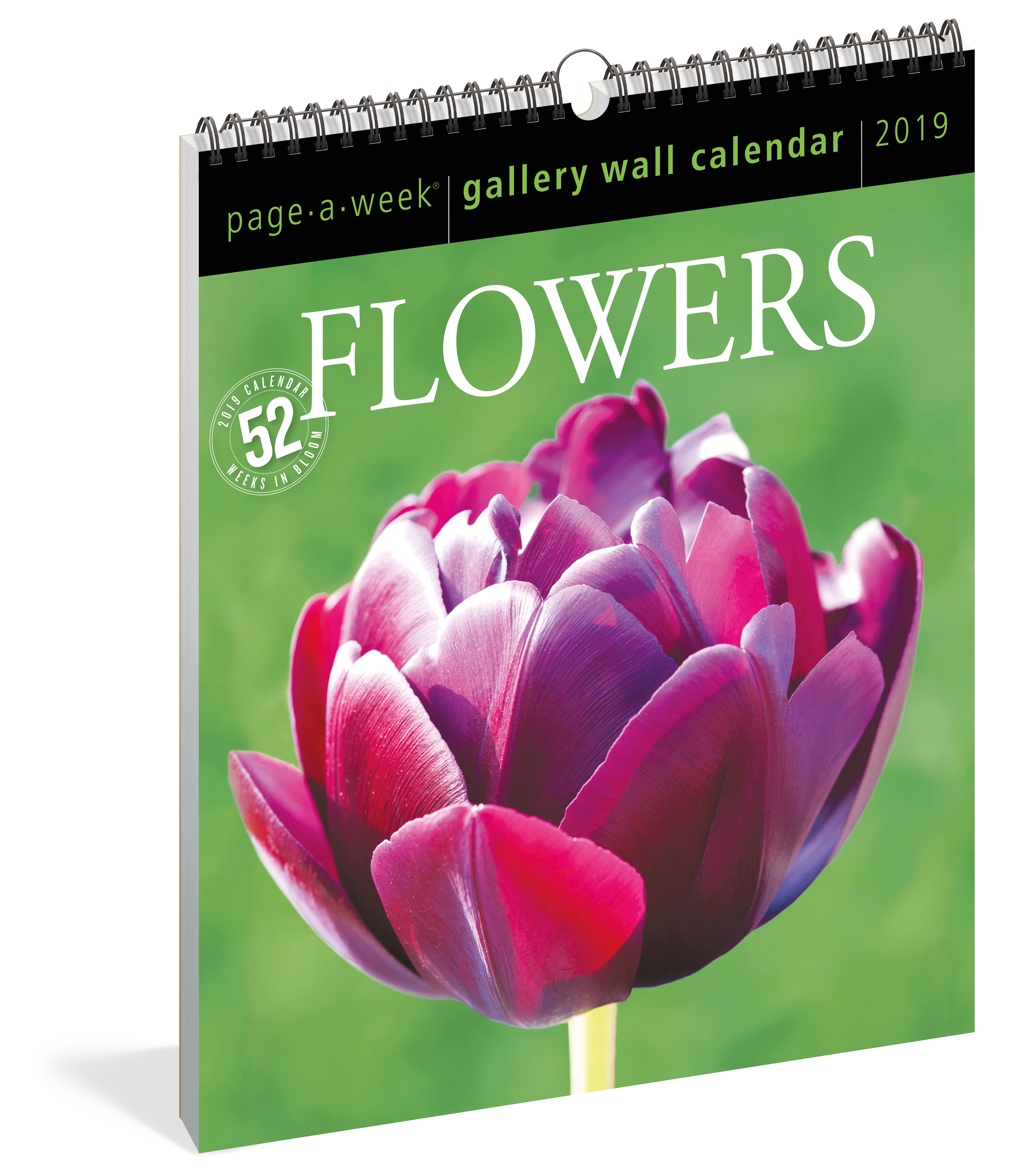 Flowers Page A Week Gallery Wall Calendar 2019