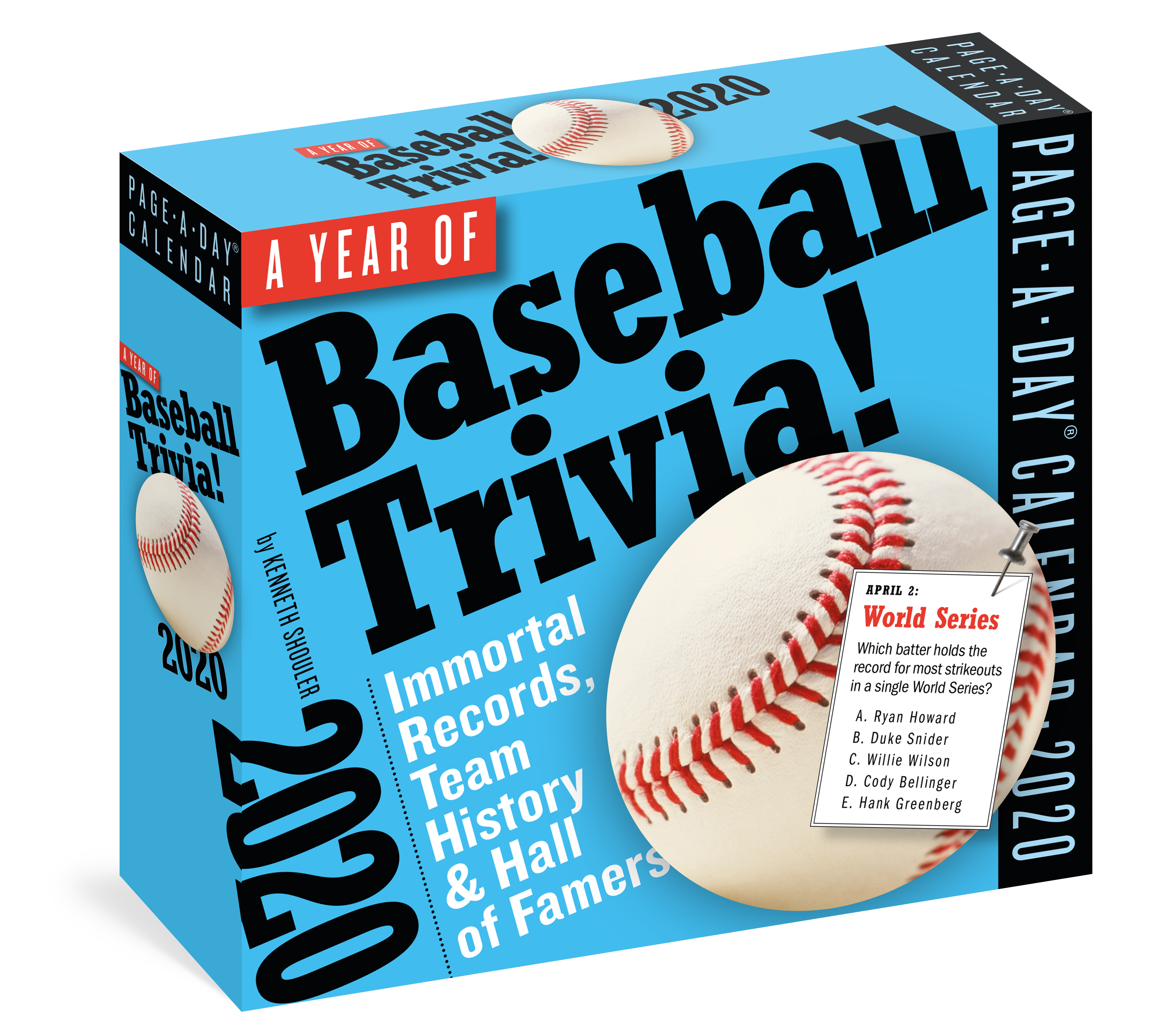 Baseball Calendar 2020 A Year of Baseball Trivia! Page A Day Calendar 2020   Workman