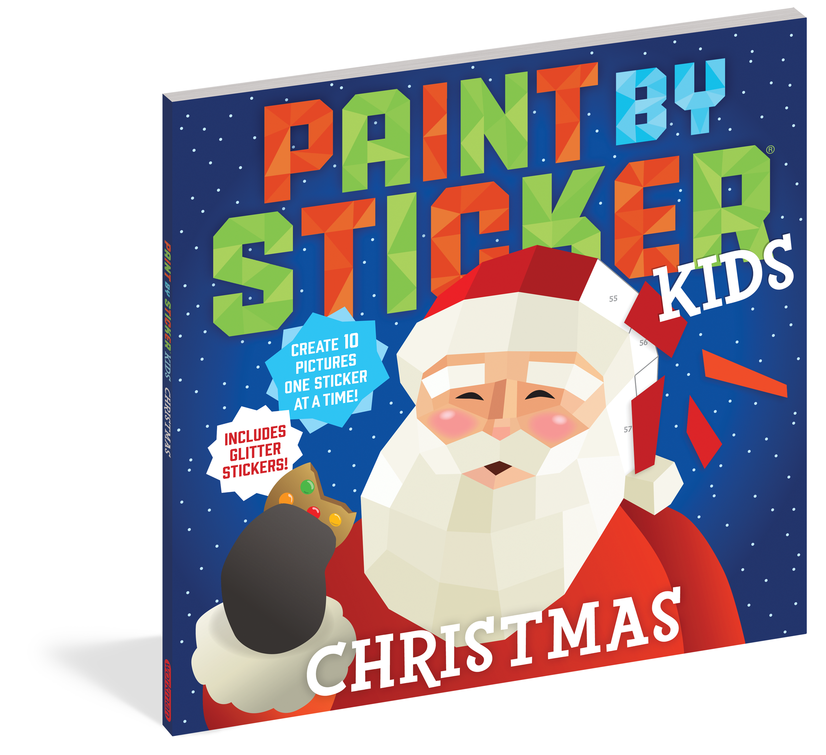 Paint by Sticker Kids: New in this bestselling activity series, Paint by Sticker Kids: Christmas includes everything kids need to create ten vibrant images, including Santa, a snowman, stockings filled with presents, and a dazzling Christmas tree—with glitter stickers that make the images shine.